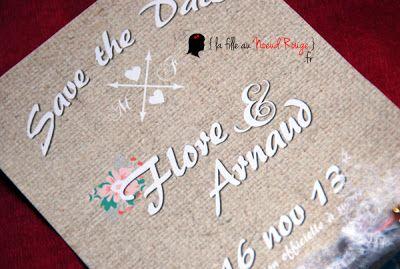 faire-part de mariage sur-mesure shabby chic bleu rose pois fleurs champêtre