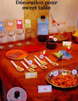 kit candy bar sur-mesure sweet table moderne graphique coloré