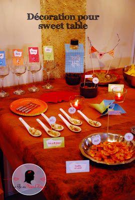 Kit candy bar sur mesure sweet table moderne graphique for Deco pour candy bar