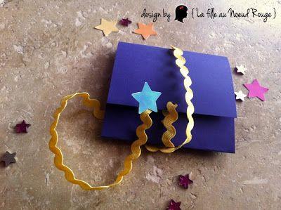 save the date mariage sur-mesure étoile filante bleu nuit jaune