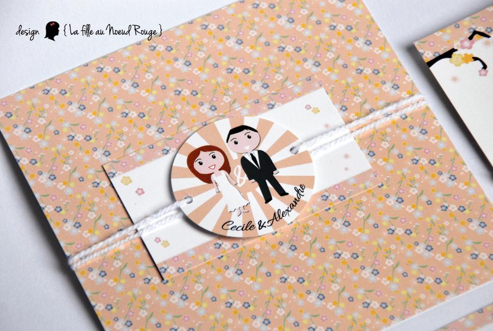 Assez Faire-part de mariage thème japon et couleurs pastel - La fille au  PH71