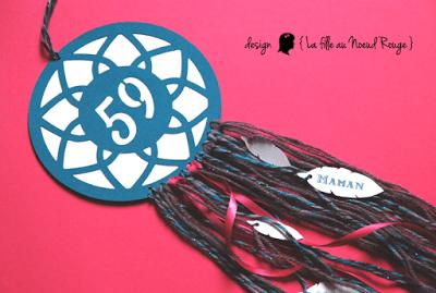 invitation anniversaire sur-mesure et décoration papeterie attrape rêve rose bleu