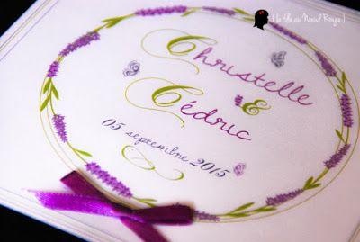 faire-part de mariage sur-mesure et décoration papeterie lavande provence papillon