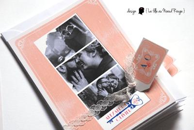 faire-part de mariage sur-mesure et décoration papeterie rétro vintage clé voyage photomaton