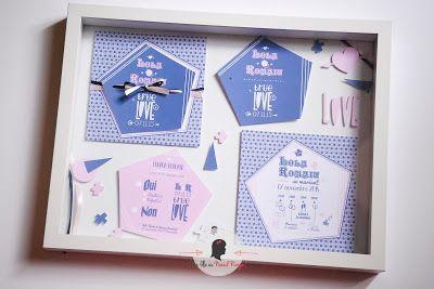 faire-part de mariage sur-mesure et décoration papeterie moderne programme symbole illustration graphique