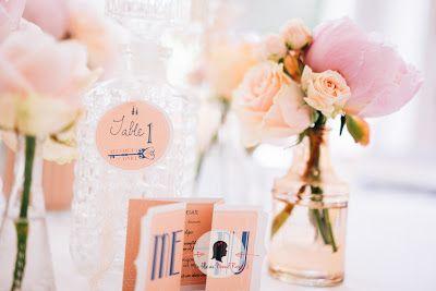 faire-part de mariage sur-mesure et décoration papeterie rétro vintage menu