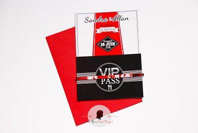 faire-part de mariage sur-mesure et décoration papeterie cinéma star vip tapis rouge