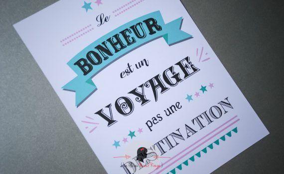 Affiche personnalisée mariage naissance baptême anniversaire