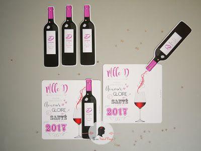 carte de voeux sur-mesure vin rouge bouteille coulissante