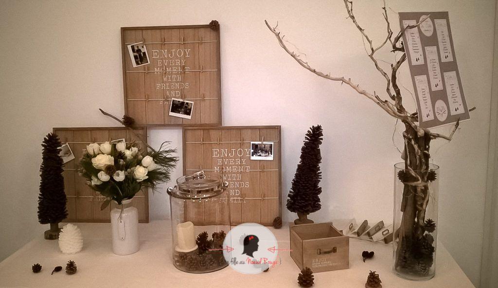 la fille au noeud rouge d coration papeterie mariage hiver pomme de pin neige 1 la fille. Black Bedroom Furniture Sets. Home Design Ideas