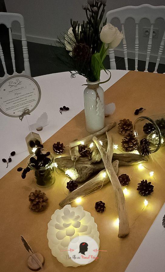 La fille au noeud rouge d coration papeterie mariage for Decoration hiver