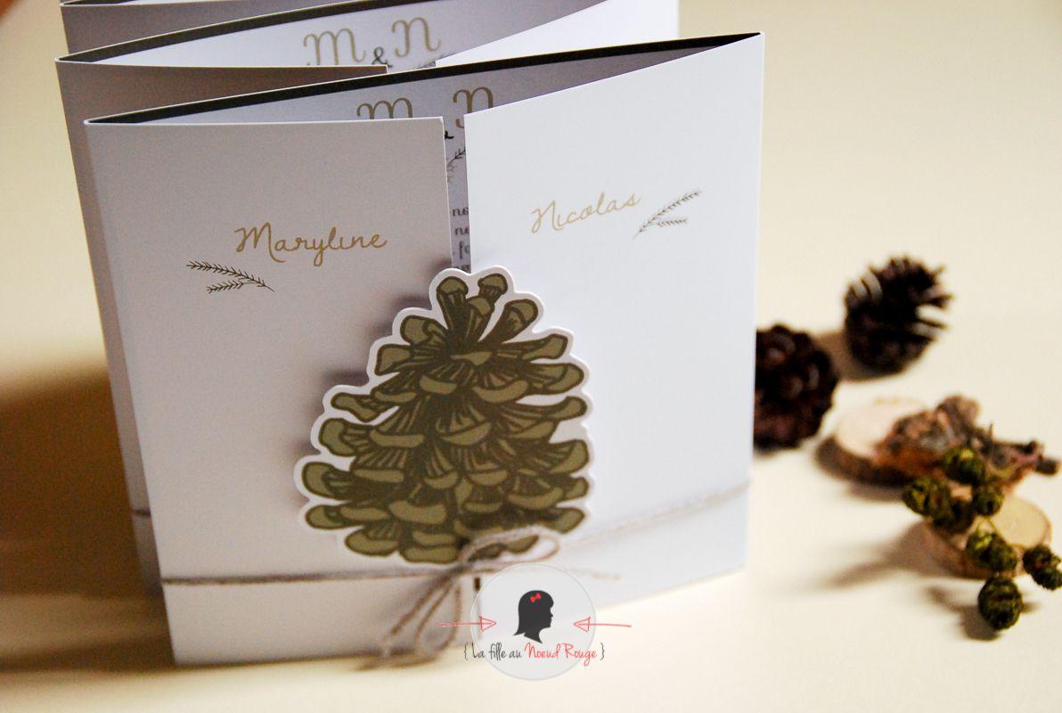des pommes de pin pour le mariage hivernal de m n la. Black Bedroom Furniture Sets. Home Design Ideas