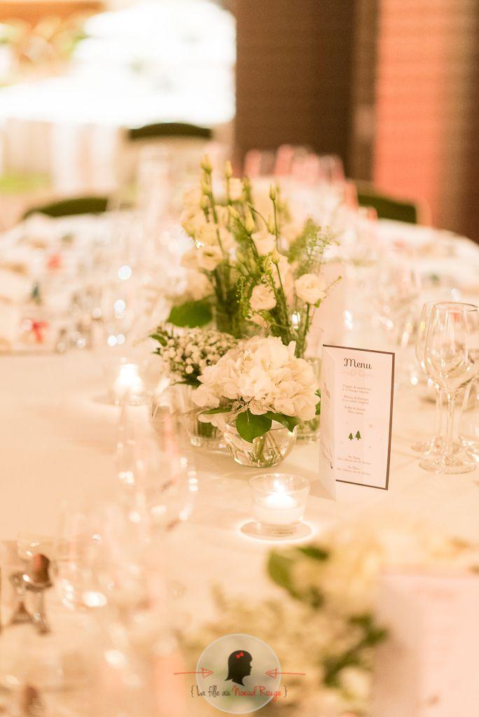 La fille au Nœud Rouge - décoration papeterie table mariage hiver flocon taupe menu