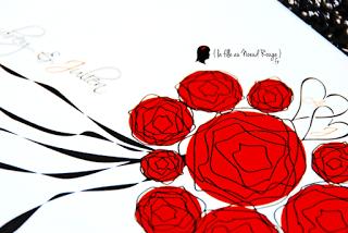faire-part mariage sur-mesure bouquet mariée roses rouges ruban fleurs