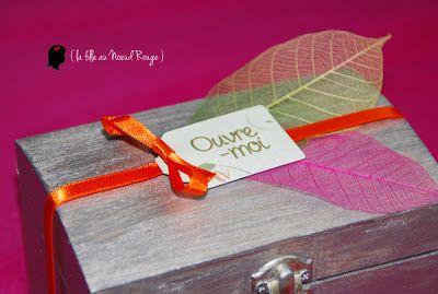 boite cadeau original pour demande en témoin thème nature