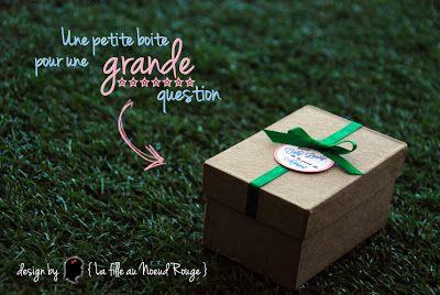 boite cadeau original baptême demande en parrain marraine rose vert bleu champêtre bucolique