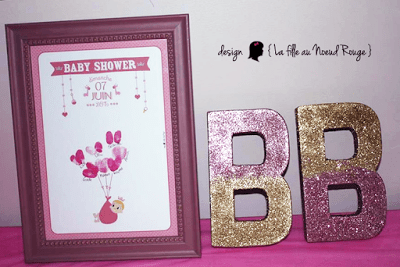 invitation baby shower sur-mesure et décoration papeterie princesse royale rose
