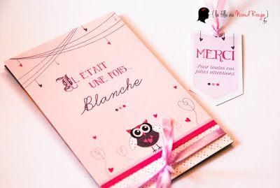 faire-part naissance sur-mesure chouette livre parme violet rose