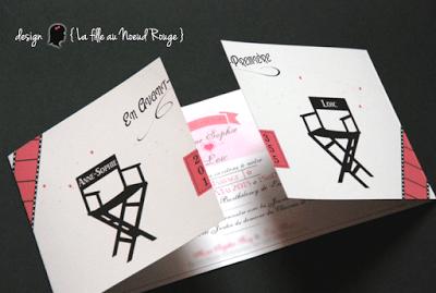 faire-part de mariage sur-mesure et décoration papeterie randonnée cinéma romantique coupon réponse rsvp dîner