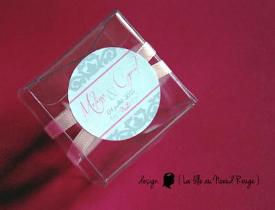 faire-part de mariage sur-mesure et décoration papeterie romantique rose fuchia gris dragée