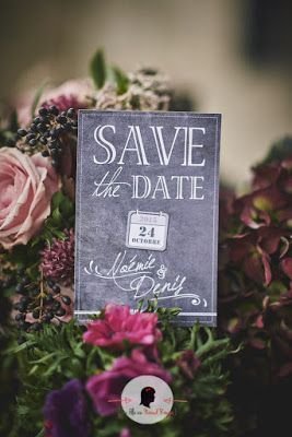 save the date mariage sur-mesure ardoise industriel calendrier