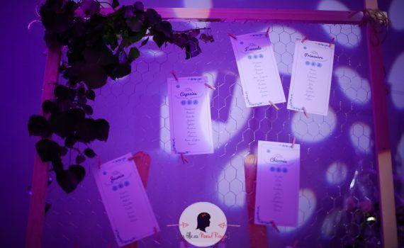 Plan de table à personnaliser mariage baptême anniversaire