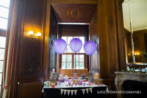 faire-part baptême décoration papeterie liberty kraft violet rose original