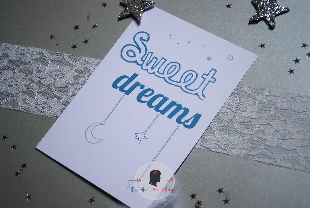 La fille au noeud rouge - Faire-part sur-mesure-affiche personnalisée sweet dreams