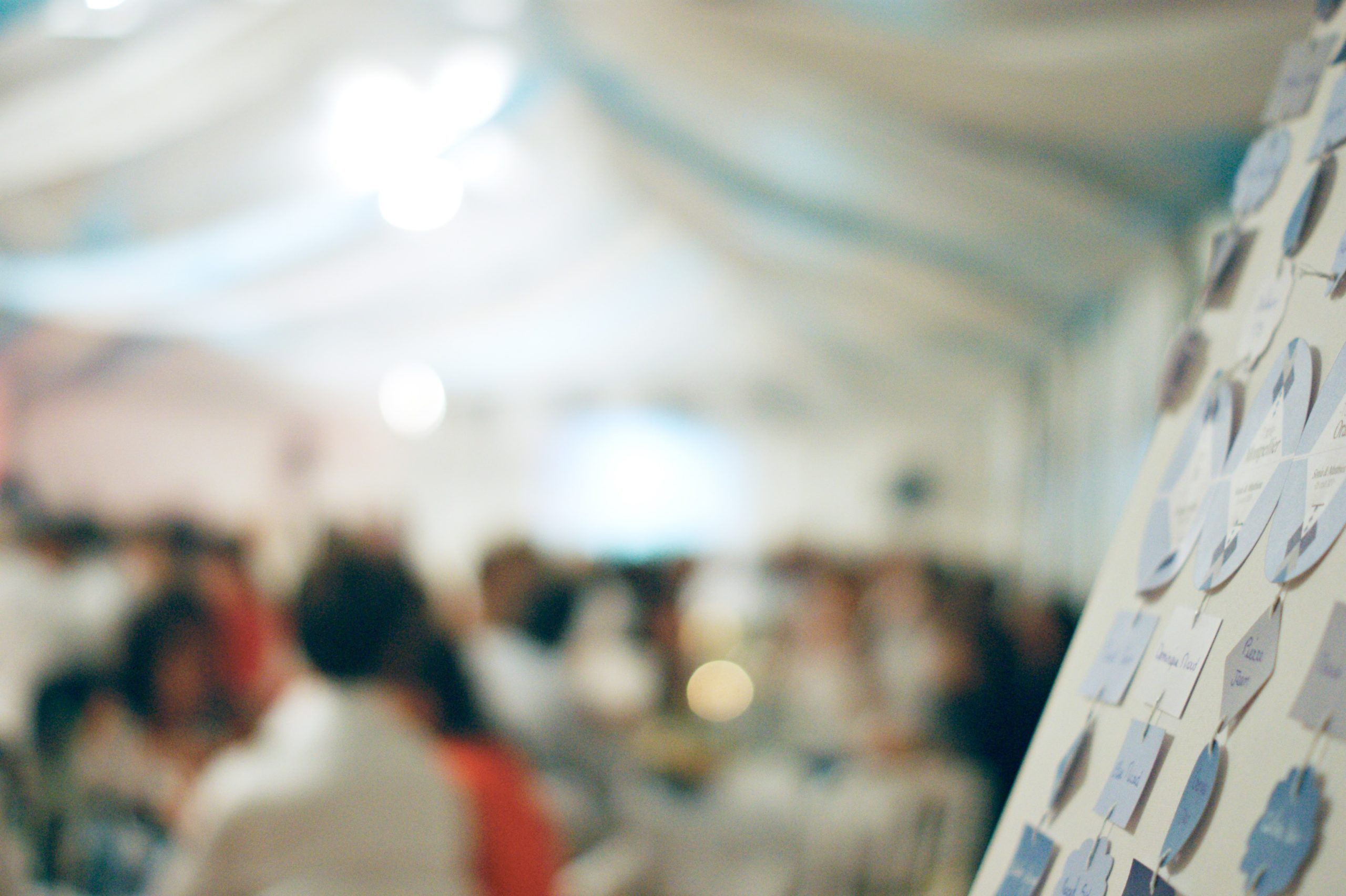 La fille au Noeud Rouge plan de table mariage graphique bleu sur-mesure