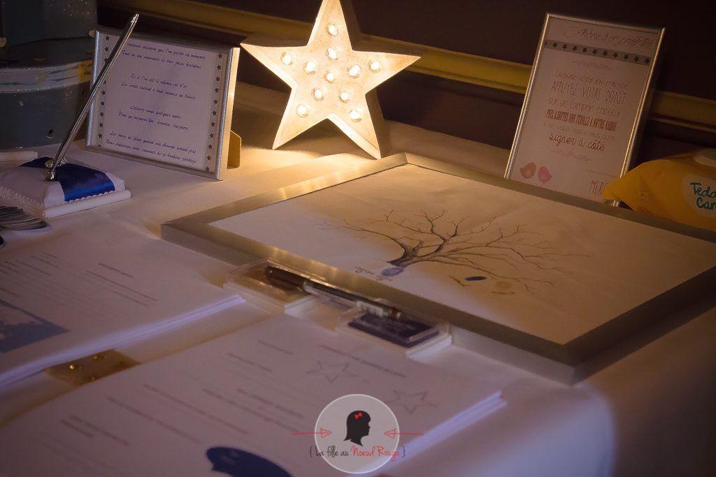 La fille au Nœud Rouge - décoration papeterie mariage sur-mesure étoile lune-4