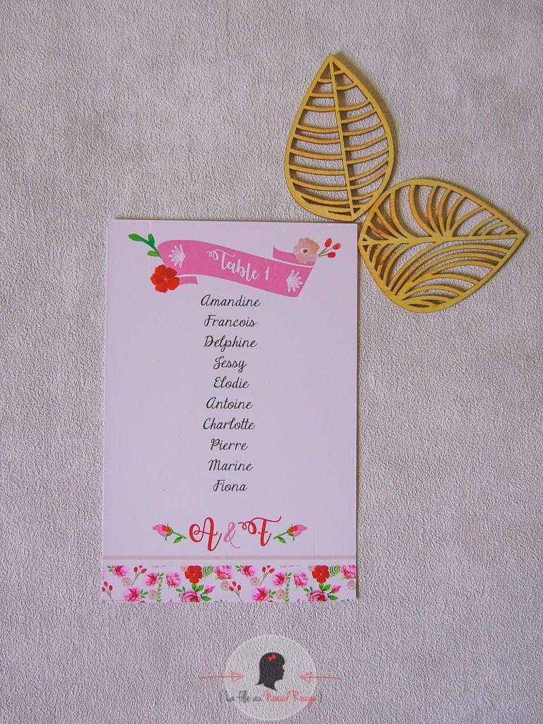 La fille au Nœud Rouge - décoration papeterie mariage champêtre fleurs aquarelle rose dessin illustration romantique végétal-65