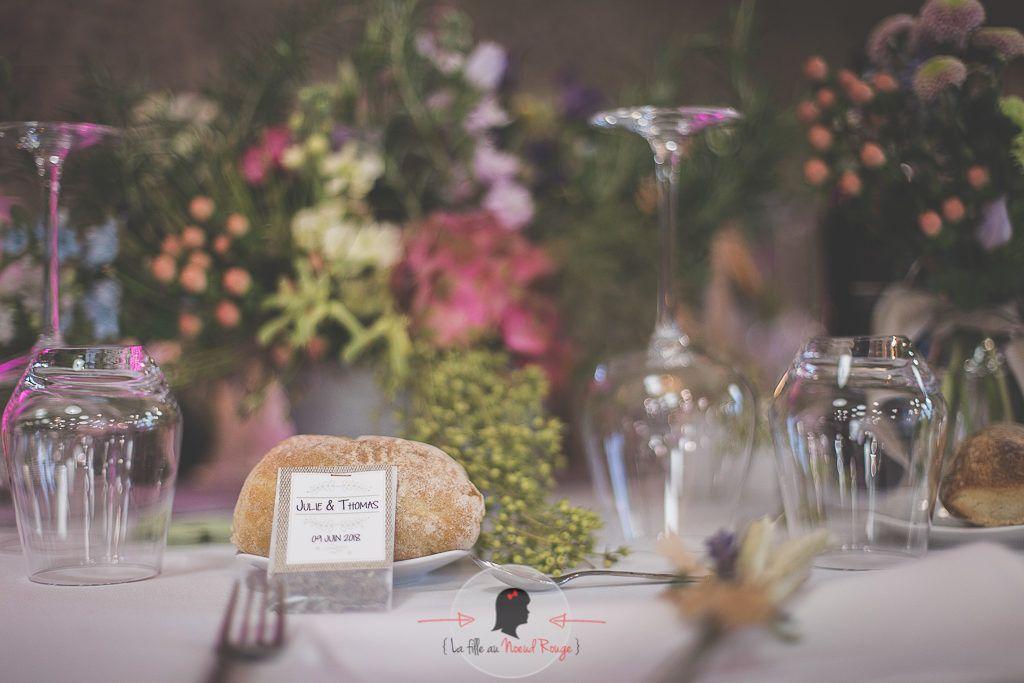 La fille au Nœud Rouge - décoration papeterie mariage élégant champêtre toile de jute sachet de graines cadeaux invités