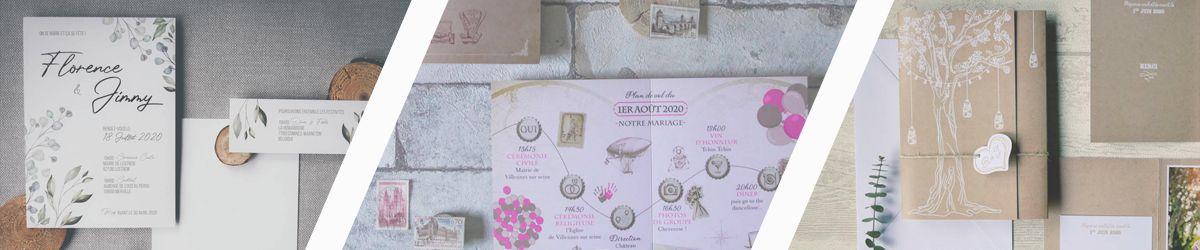 La fille au Noeud Rouge - faire-part mariage nature dorure - faire-part mariage voyage vintage - faire-part mariage champêtre kraft