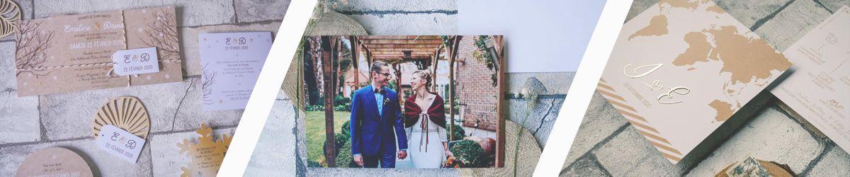 La fille au Noeud Rouge - faire-part mariage hiver - faire-part remerciement mariage nature fleurs - faire-part mariage voyage