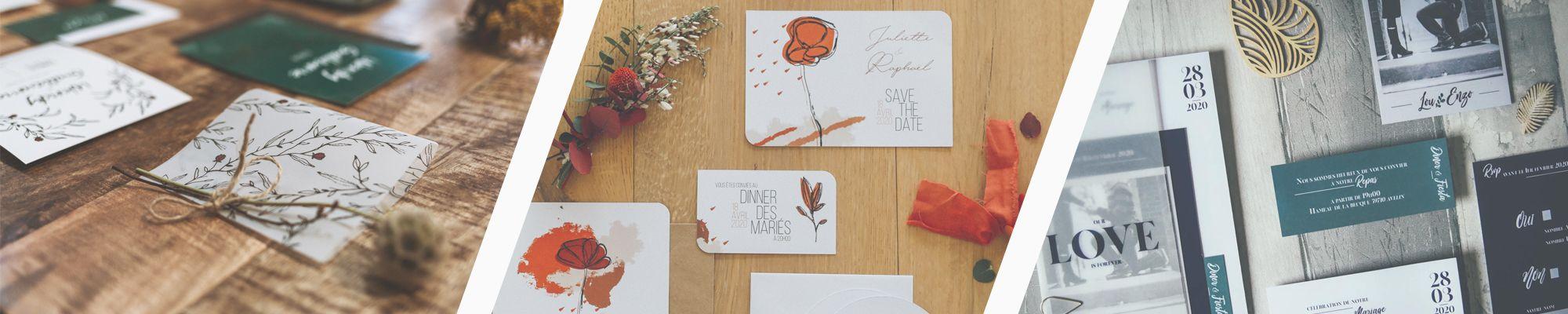 La fille au Noeud Rouge - faire-part mariage personnalisé végétal - terracotta - vellum
