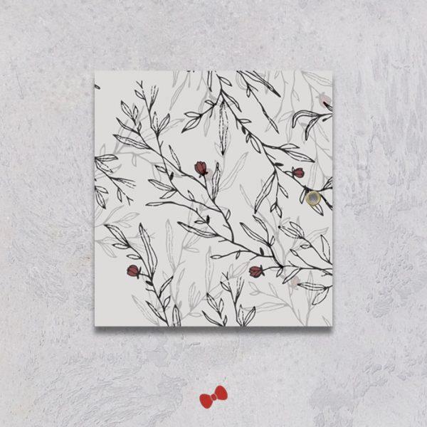 La fille au Noeud Rouge - faire-part papier calque mariage urbain végétal