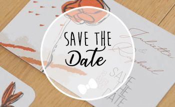La fille au Noeud Rouge - save the date mariage