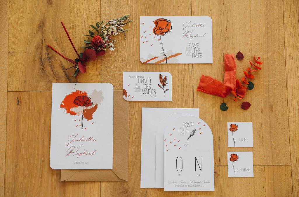 mariage terracotta minimaliste