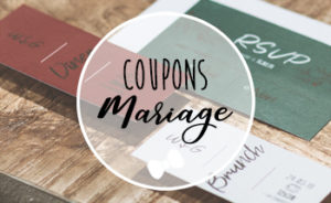 Coupons faire-part mariage