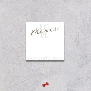 La fille au Noeud Rouge - coupon merci collection naissance modern love