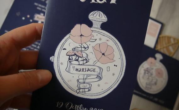 La fille au Noeud Rouge - faire-part mariage alice au pays des merveilles hipster tatouage-8