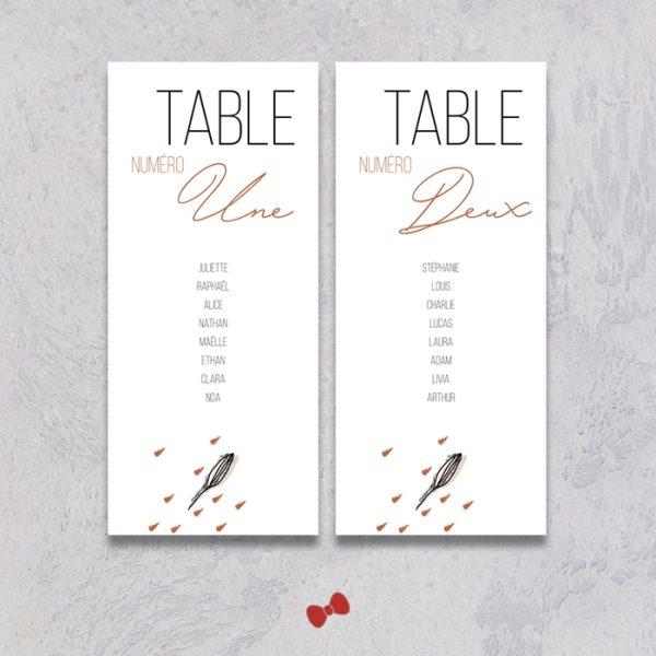 La fille au Noeud Rouge - Plan de table mariage terracotta minimaliste