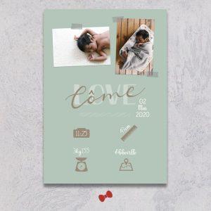 La fille au Noeud Rouge - affiche naissance chambre bébé collection modern love