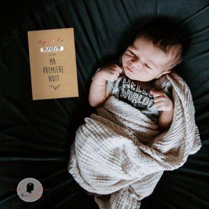 La fille au Noeud Rouge - carte étape bébé kraft cuivré photo