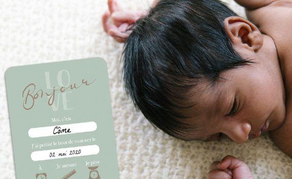 La fille au Noeud Rouge - carte premier jour naissance à remplir collection modern love photo