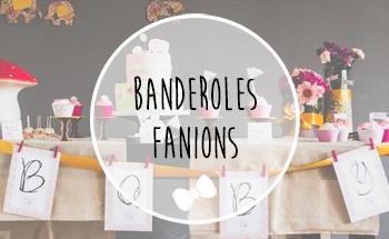 banderole / guirlande fanions Baby Shower