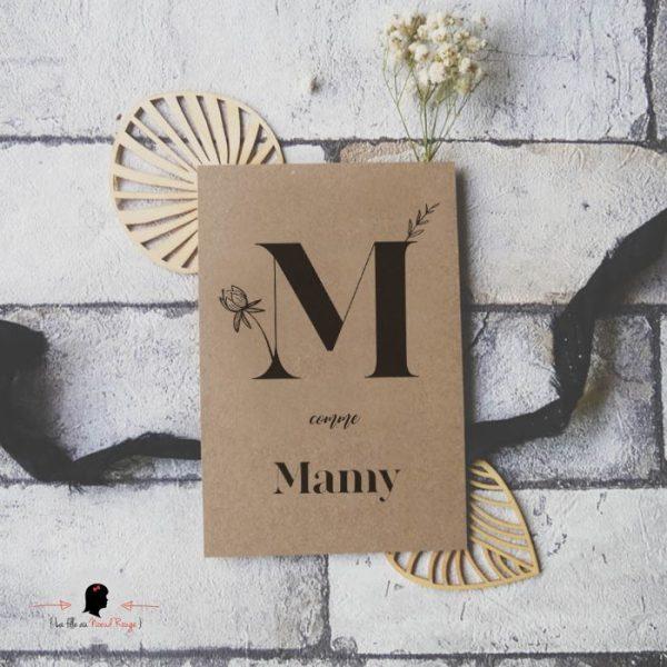 La fille au Noeud Rouge - Carte postale M comme Mamy Mamie