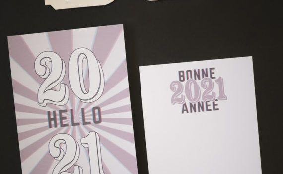 La fille au Noeud Rouge - Carte de voeux anaglyphe 2021