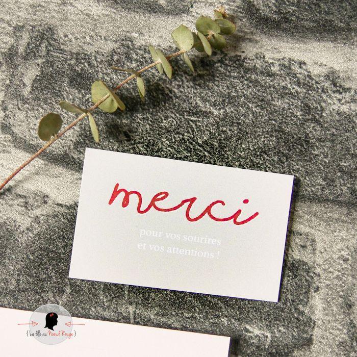 La fille au Noeud Rouge - Coupon merci Faire-part naissance pure papier calque couleurs nature terre photo
