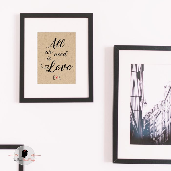 La fille au Noeud Rouge - Affiche de la Saint Valentin all we need is love
